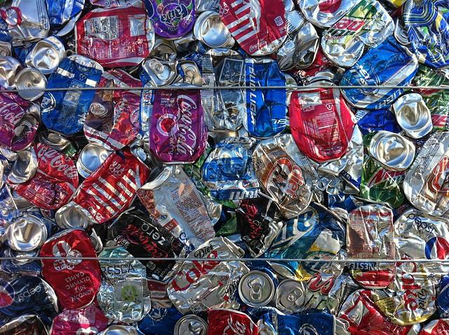Baled Aluminum Cans - Mojave Desert