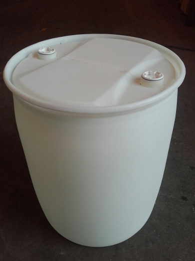White plastic bung top drum
