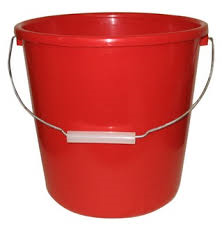 Plastic pails and buckets
