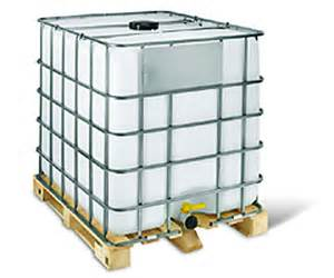 UN Standard new 1000ltr IBC with a wooden pallet
